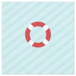 Nautical Stripes Float Art Prints