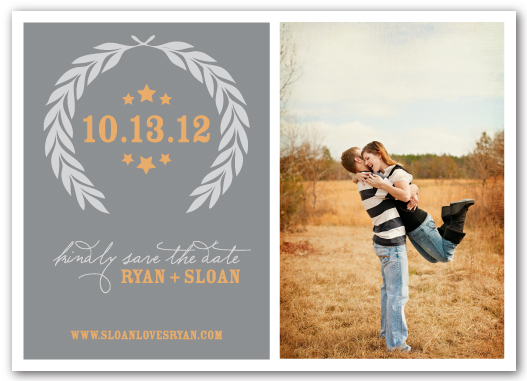 save the date cards - Fields of Gold
