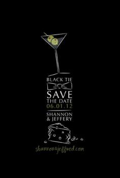 Black Tie Save the Date Cards