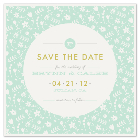 save the date cards - Vintage Floral by Amber Barkley