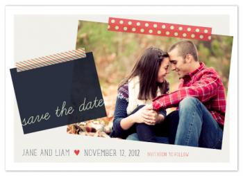 Polk-a-dot washi Save the Date Cards