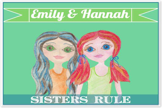 art prints - Sisters Rule by Monica Schafer