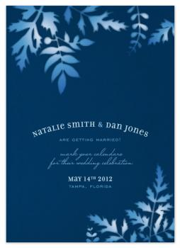 Sun Print Save the Date Cards