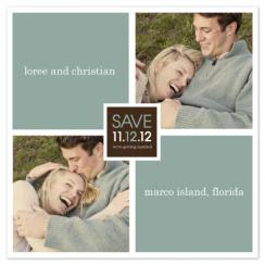 Squares Save the Date Cards