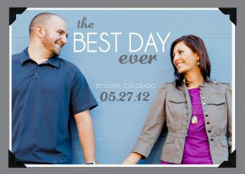 The Best Day Ever Save the Date Cards