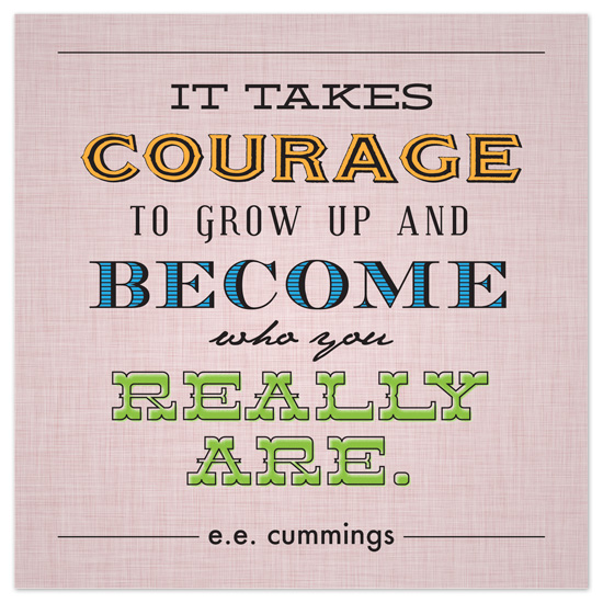 art prints - It Takes Courage by Valerie Glassman