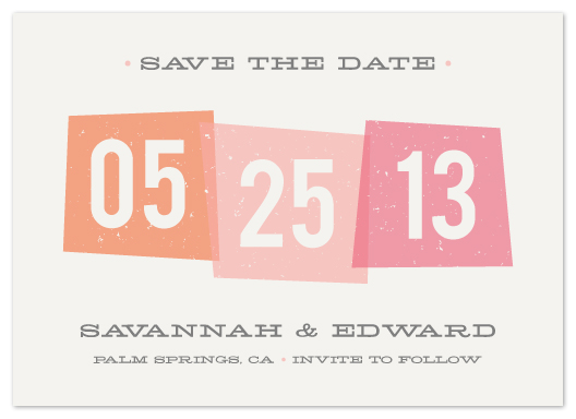 save the date cards - Vintage Blocks by Amber Barkley