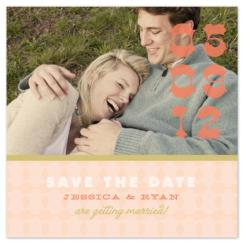 Modern Country-Chic Save the Date Cards