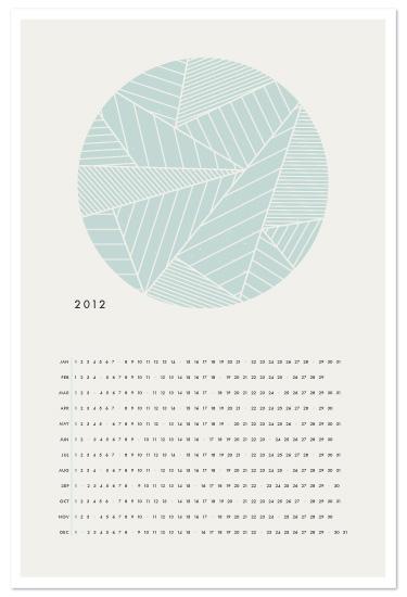 art prints - The Minimalist Calendar by Amber Barkley