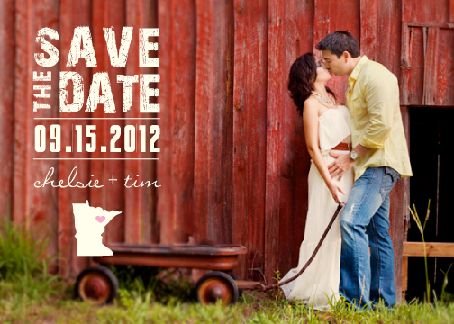 save the date cards - State Your Love