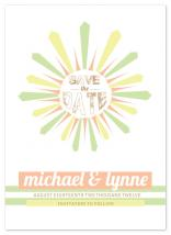 Sunshine Save the Date by Cordial Punch Press