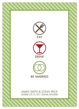 Eat, Drink, Be Married Save the Date Cards