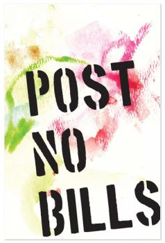 post no bills Art Prints