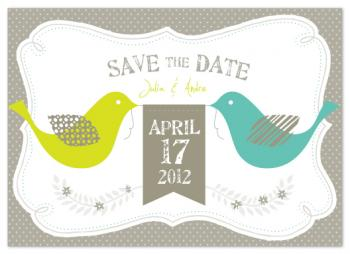 country tweet Save the Date Cards
