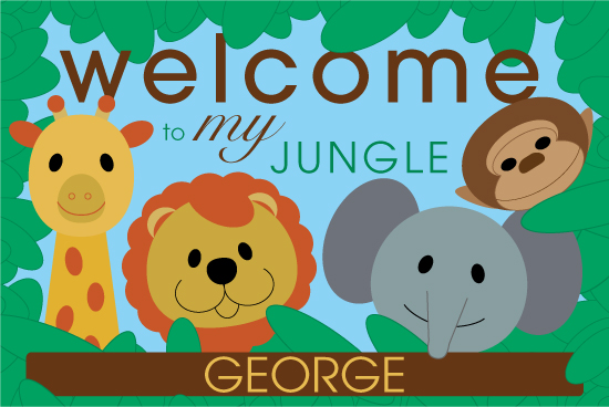 art prints - Welcome to My Jungle Personalized by berberlita