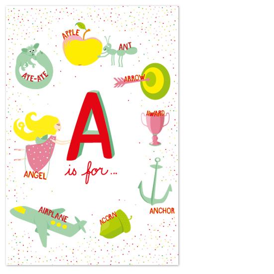 art prints - A_is_for_1of3 by Tereza Šašinková Lukášová