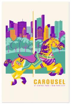 central park carousel poster