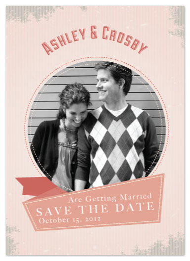 save the date cards - Love & Stripes by Anna Elder