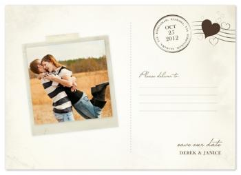 Vintage Postcard Save the Date Cards