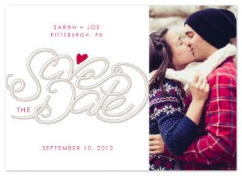 Save The Date - Heart Save the Date Cards
