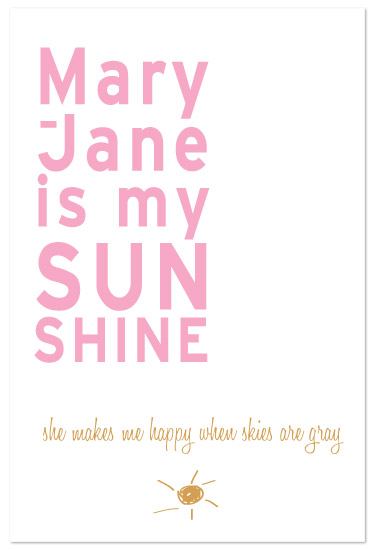 art prints - You're my Sunshine by paper ink.