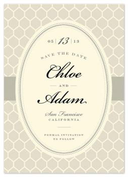 Monochrome Honeycomb Save the Date Cards