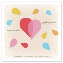 abstract intersection Save the Date Cards