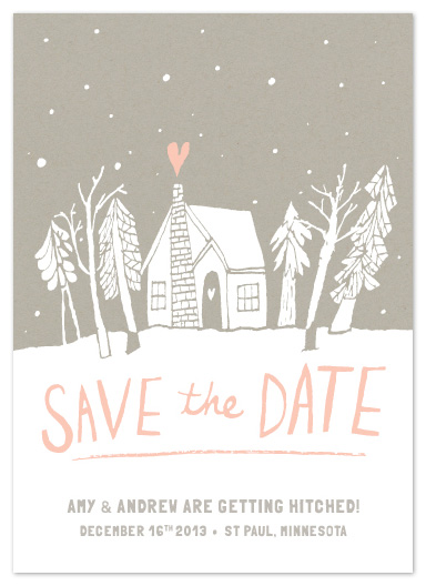 save the date cards - Cabin Love by June Letters Studio