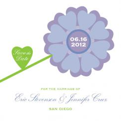 Floral Hearts Save the Date Cards