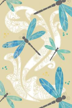 Dance of the dragonflies Art Prints