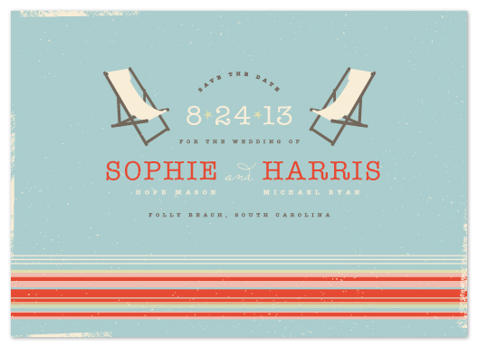 save the date cards - Vintage Beach by Kristie Kern