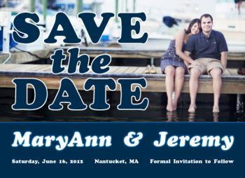 Casual Cape Save the Date Cards