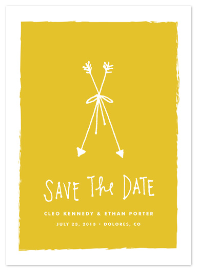save the date cards - bow & arrows by annie clark
