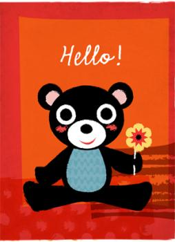 Hello Bear Art Prints