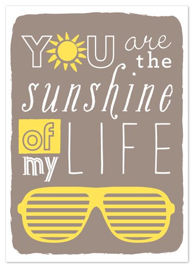 art prints - You are the sunshine by Snow and Ivy