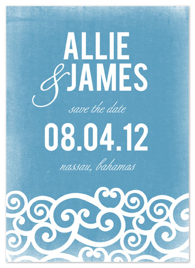 save the date cards - Costal Waves by Jill Zielinski Designs
