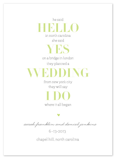 save the date cards - Back to Basics by Chips and Salsa Design Studio