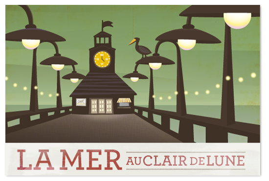 art prints - La Mer by Griffinbell Paper Co.