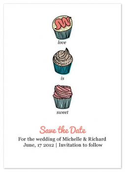 Love is Sweet Save the Date Cards