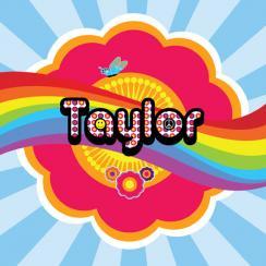 Pop art rainbow name