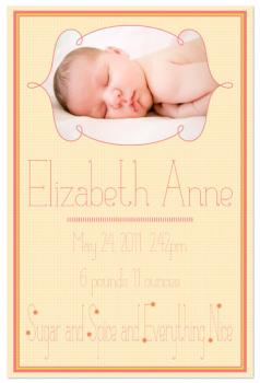 Sugar and Spice Birth Announcement Art Prints