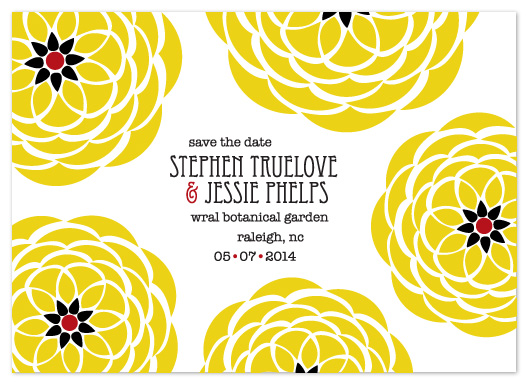 save the date cards - Art Deco Flowers by Simply Shira