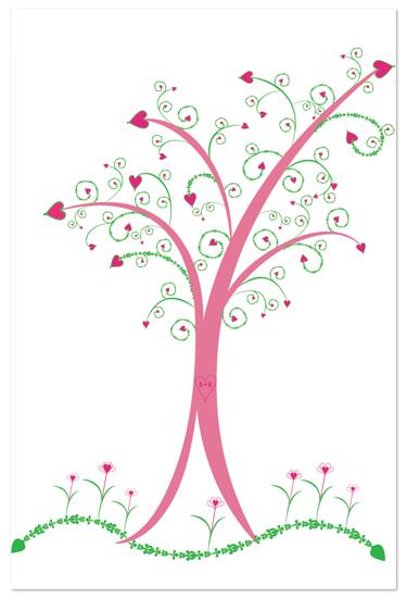 art prints - Heart Tree by Debra Borrmann