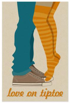 Love on tiptoe Art Prints