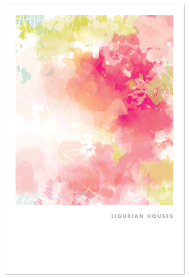 art prints - ligurian houses by kelli hall