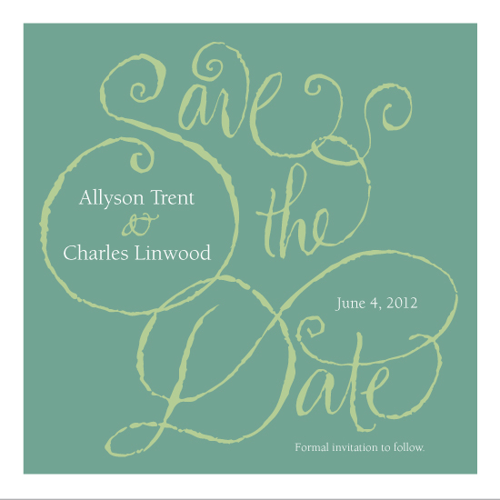 save the date cards - FrillyCallig by Elaine Dillard
