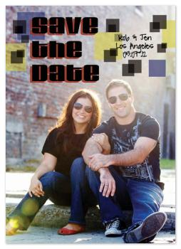 Rock and Roll Save the Date Cards