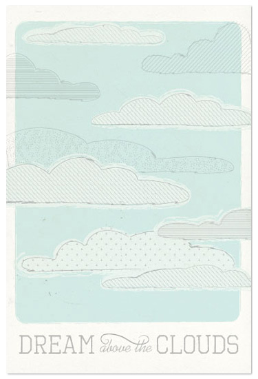 art prints - Above the Clouds by Bleu Collar Paperie