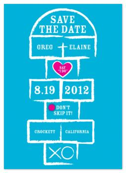 Don't Skip It Save the Date Cards
