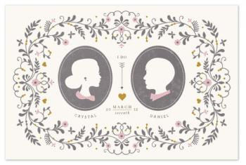 wedding silhouette Art Prints